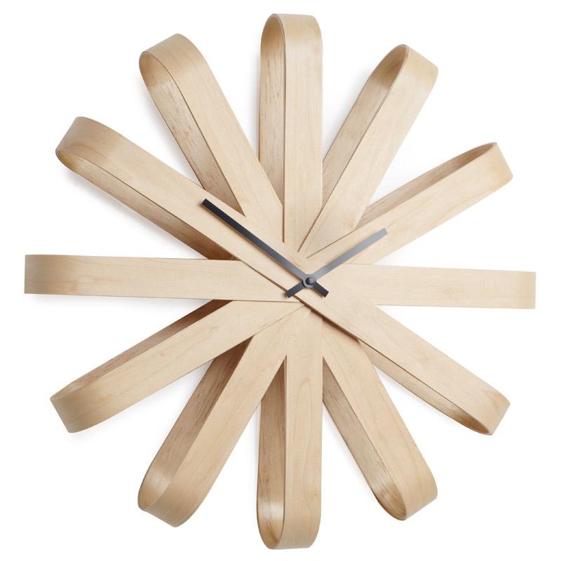 Настенные часы Umbra Часы настенные Ribbon дерево все цены