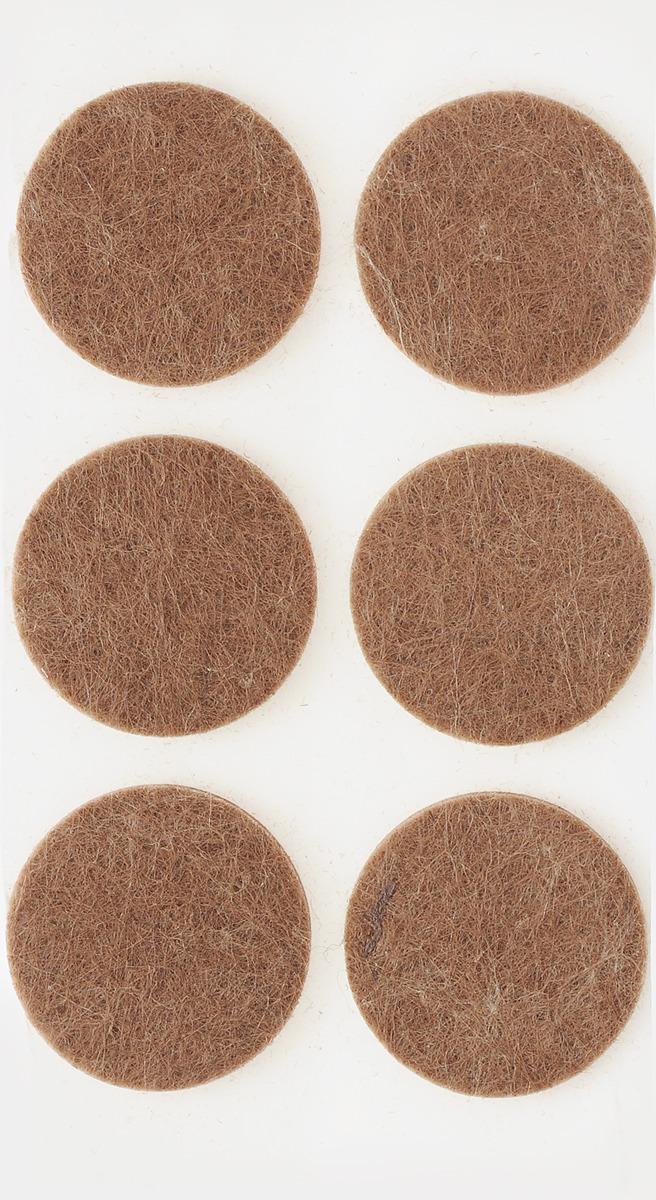 Подпятник для мебели Tech-Krep, самоклеящийся, цвет: темно-коричневый, диаметр 30 мм, 6 шт наклейки для мебели top star защитные цвет коричневый диаметр 2 5 см 12 шт