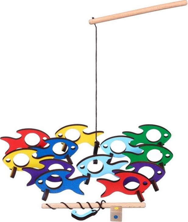 Игра деревянная рыбалка с крючком Поймай-ка рыбки, Деревянные Игрушки ДИ040 специальный boa topbright 23 5 градусов лошадка деревянные игрушки для детей мальчик ребенок дареному коню