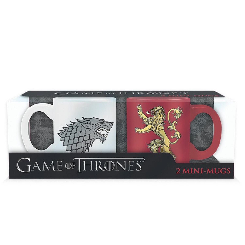 Набор кружек ABYstyle Game of Thrones Stark & Lannister, ABYMUG196, белый, красный, 110 мл, 2 шт майка print bar game of thrones lannister