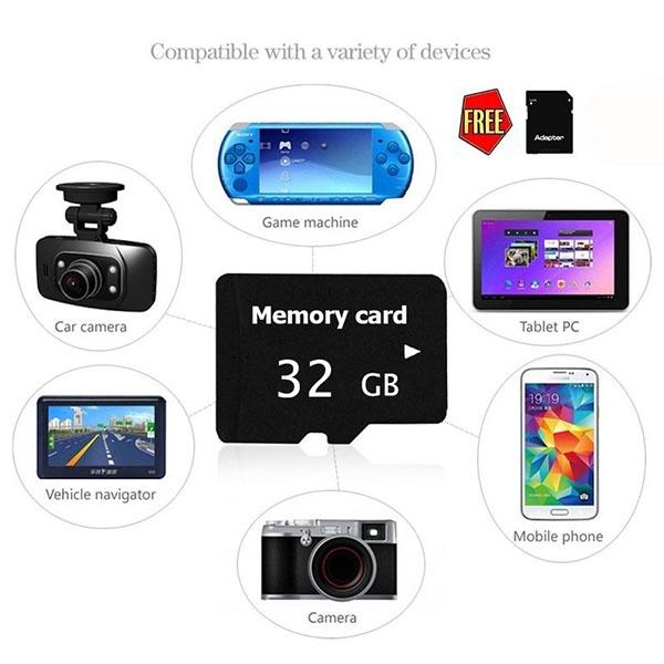 Карта для камеры телефона с SD tf sd micro sd card plastic box translucent white 5 pcs