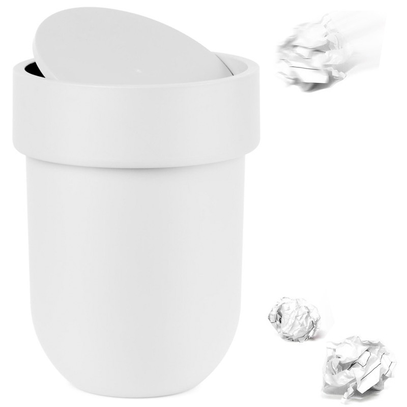 Контейнер мусорный Umbra Touch с крышкой белый контейнер мусорный touch umbra контейнер мусорный touch