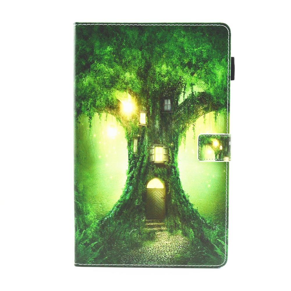 Samsung Galaxy Tab 10.5 T590 Case Pu кожаный чехол для планшетов с подставкой с крышками для карточек Tree House