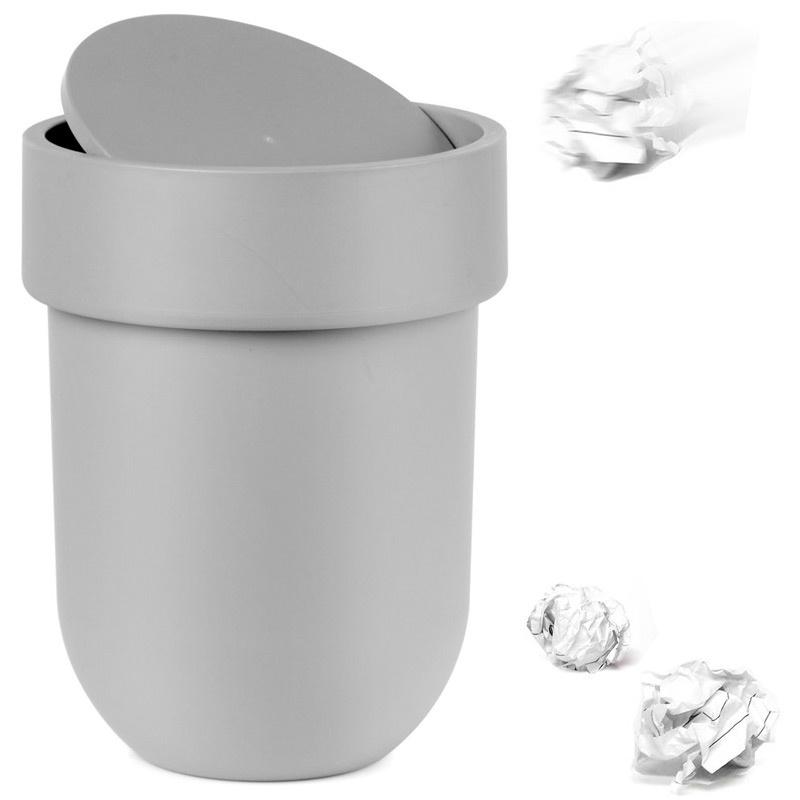 Контейнер мусорный Umbra Touch с крышкой серый контейнер мусорный touch umbra контейнер мусорный touch