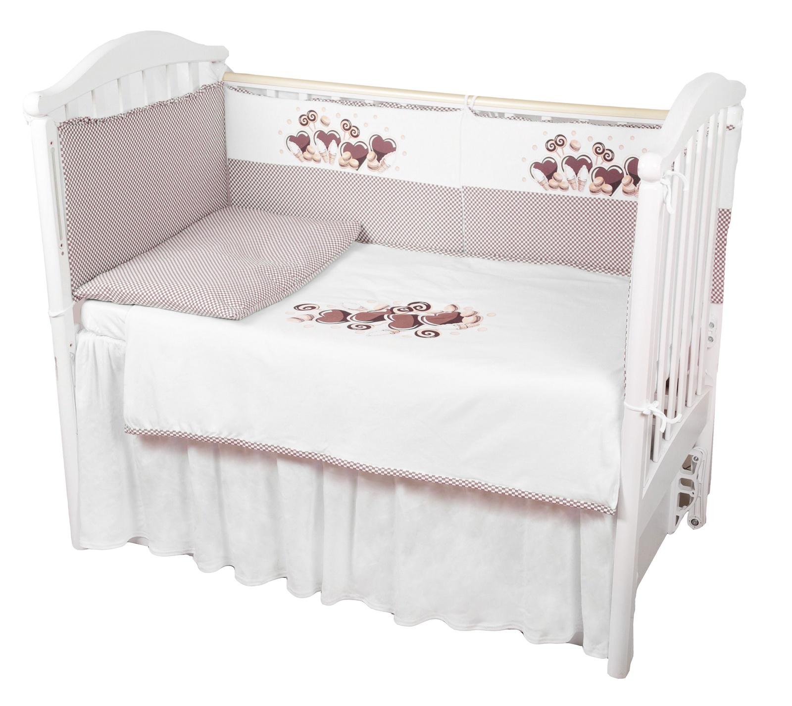 """Комплект в кроватку Childberry """"Сладости"""" из 6 предметов + пижама в подарок"""