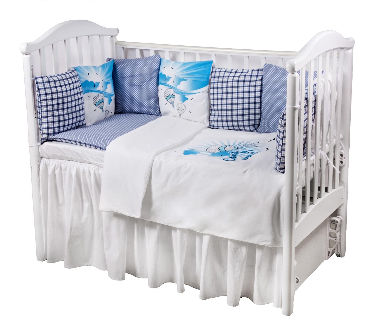 Комплект в кроватку Childberry с защитными бортиками-подушками из 6 предметов