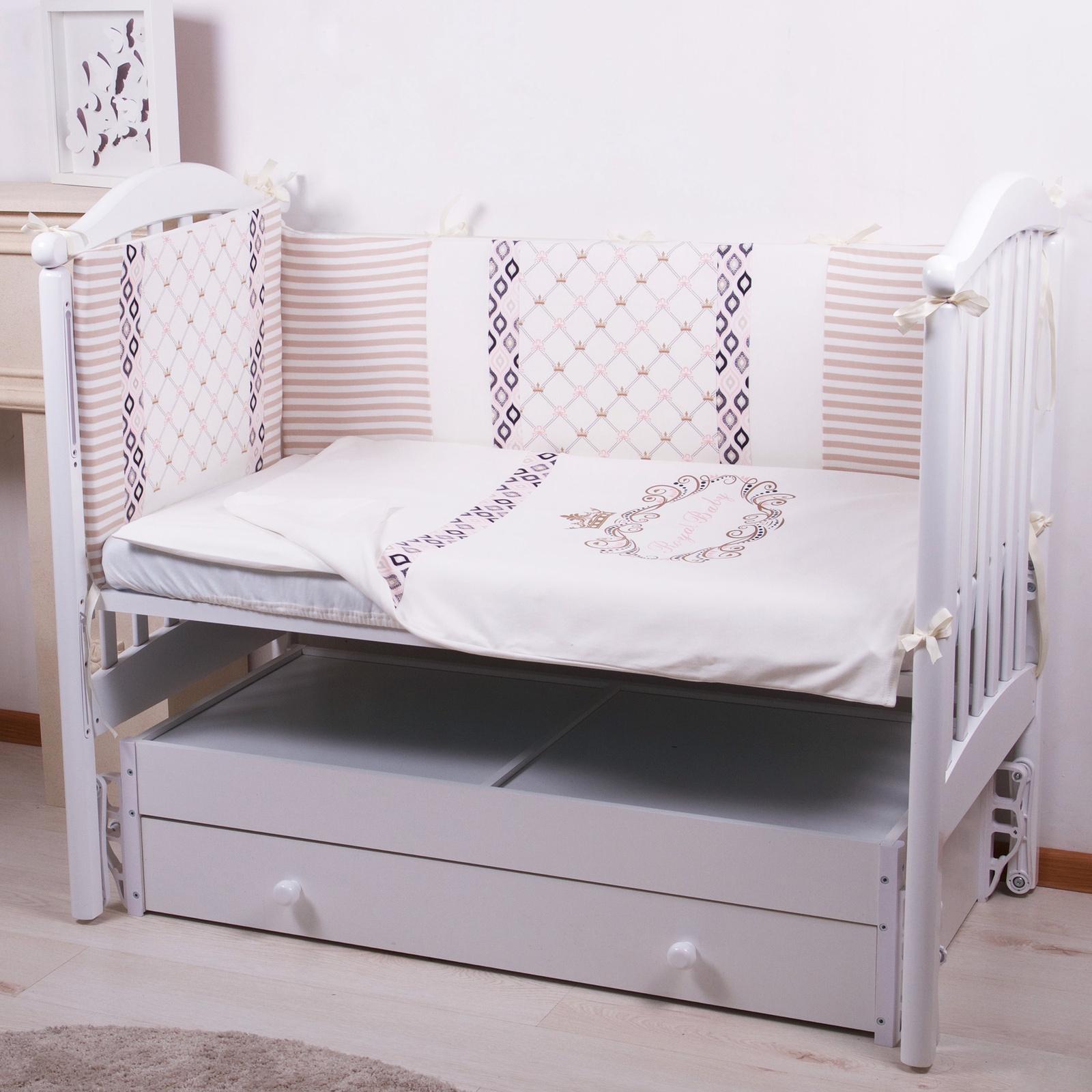 """Комплект в кроватку Childberry """"Royal Baby"""" из 6 предметов + пижама в подарок"""