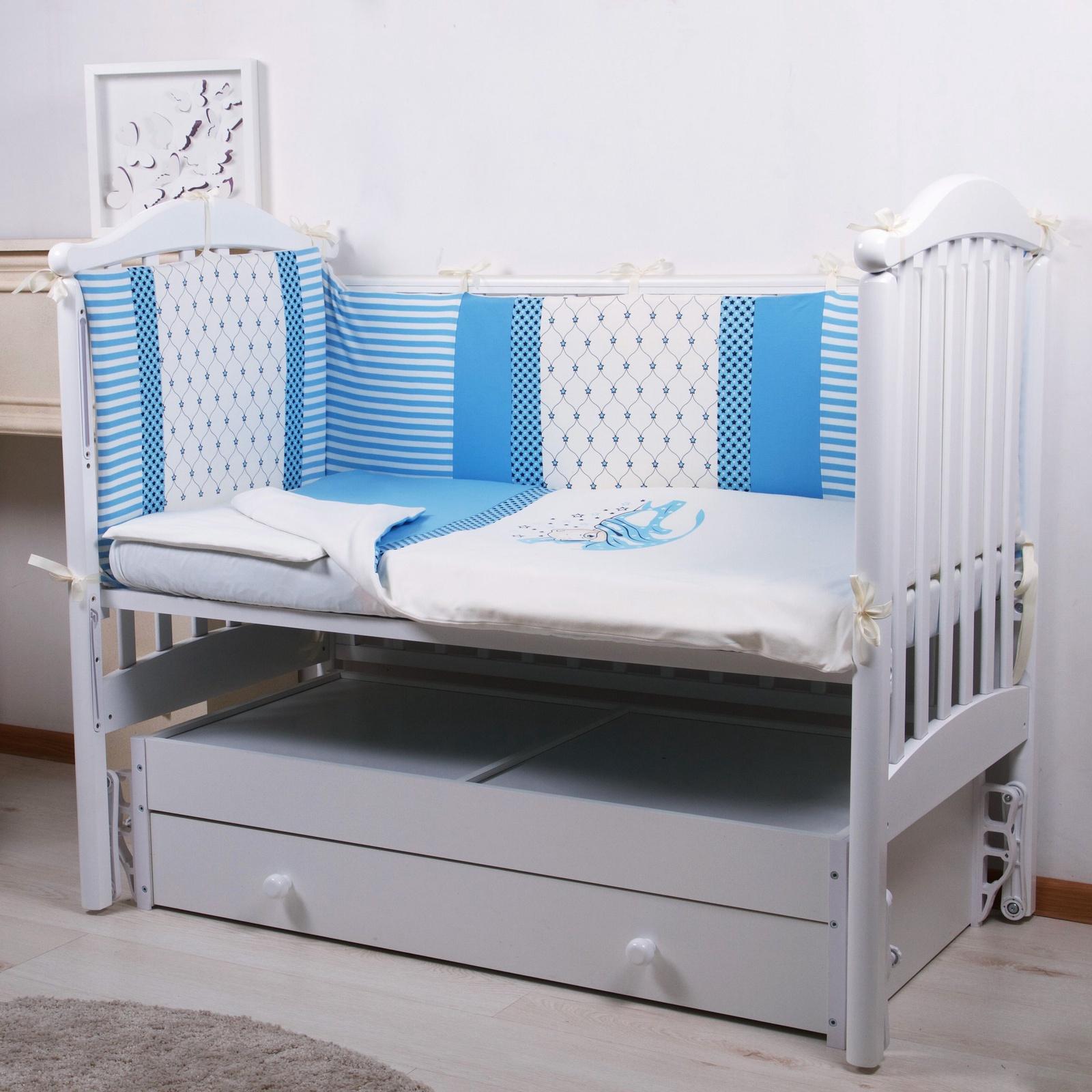 """Комплект в кроватку Childberry """"Мишка"""" из 6 предметов + пижама в подарок"""