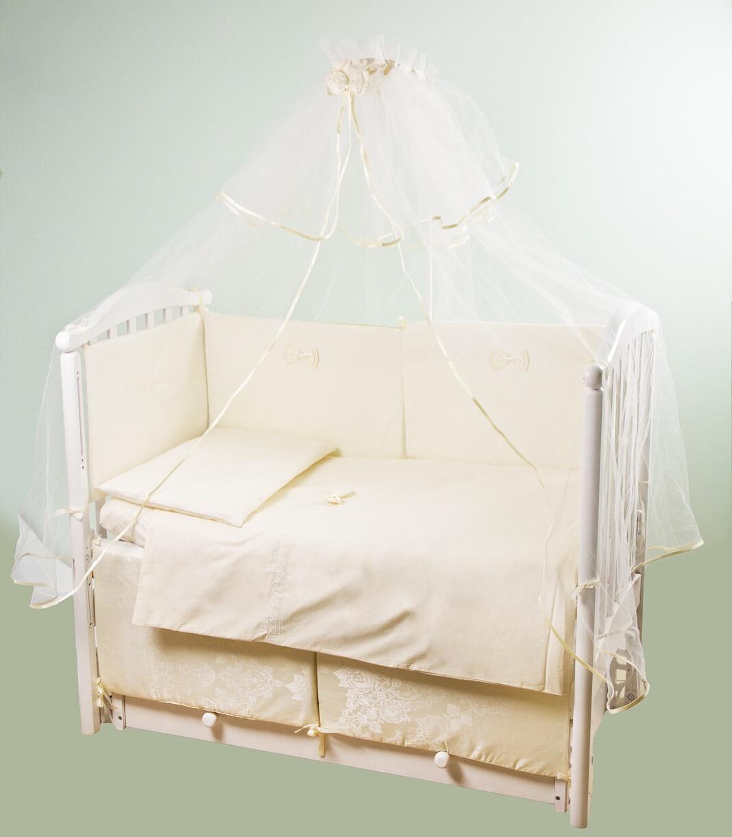 """Комплект в кроватку Childberry """"Сатиновая коллекция"""" из 6 предметов"""