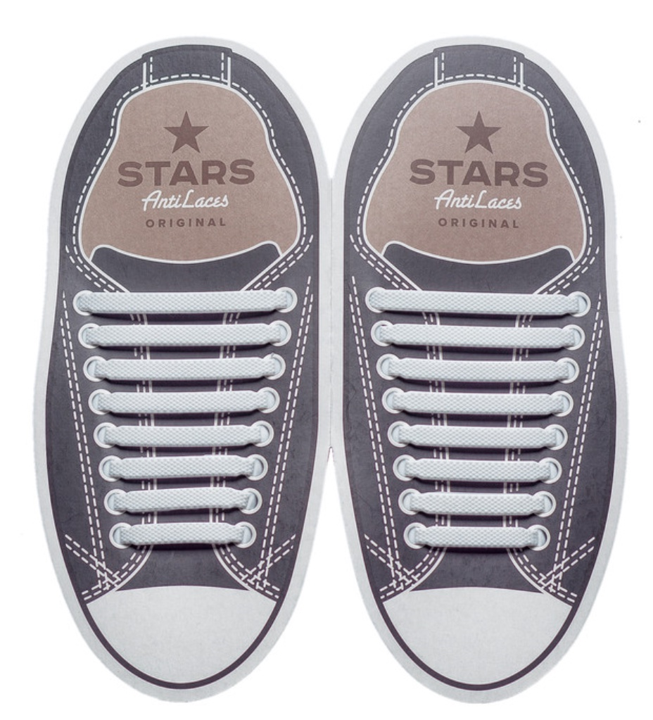 Cиликоновые шнурки белые шнурки oxelo белые шнурки для коньков