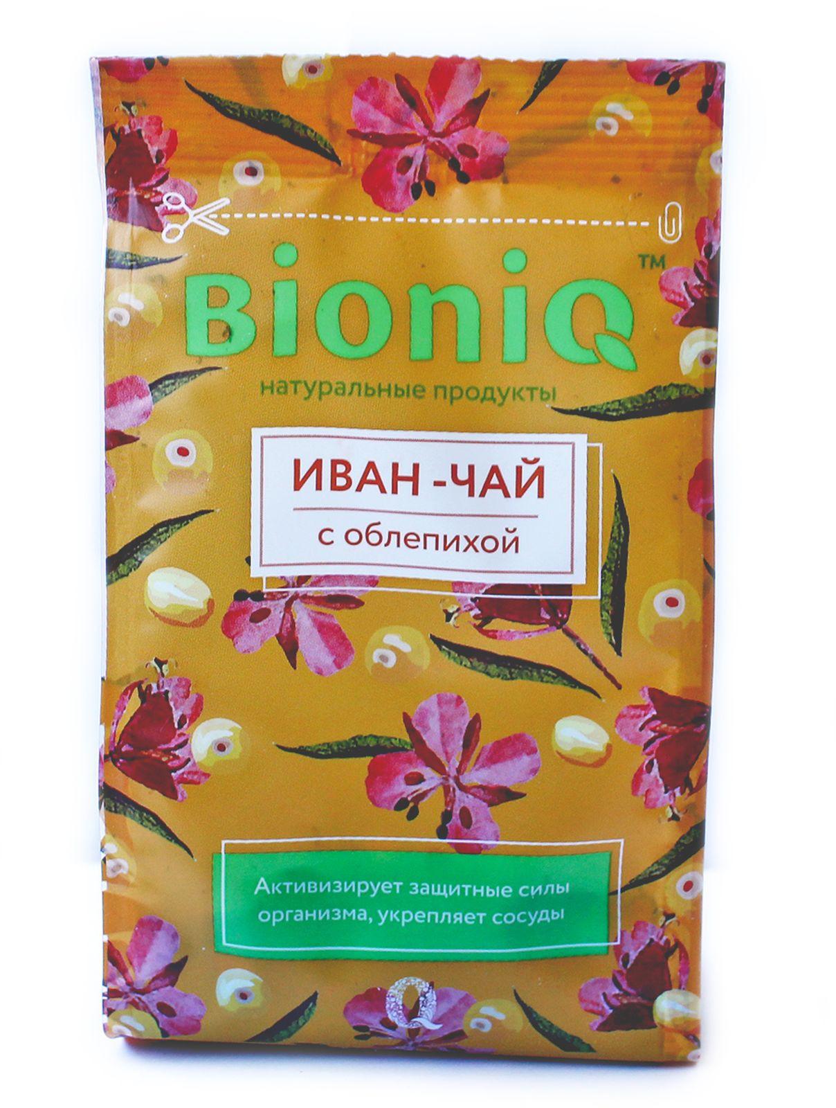 Иван-чай BioniQ, с облепихой, 35 г компот bioniq смородиновый 0 48 0 5 л