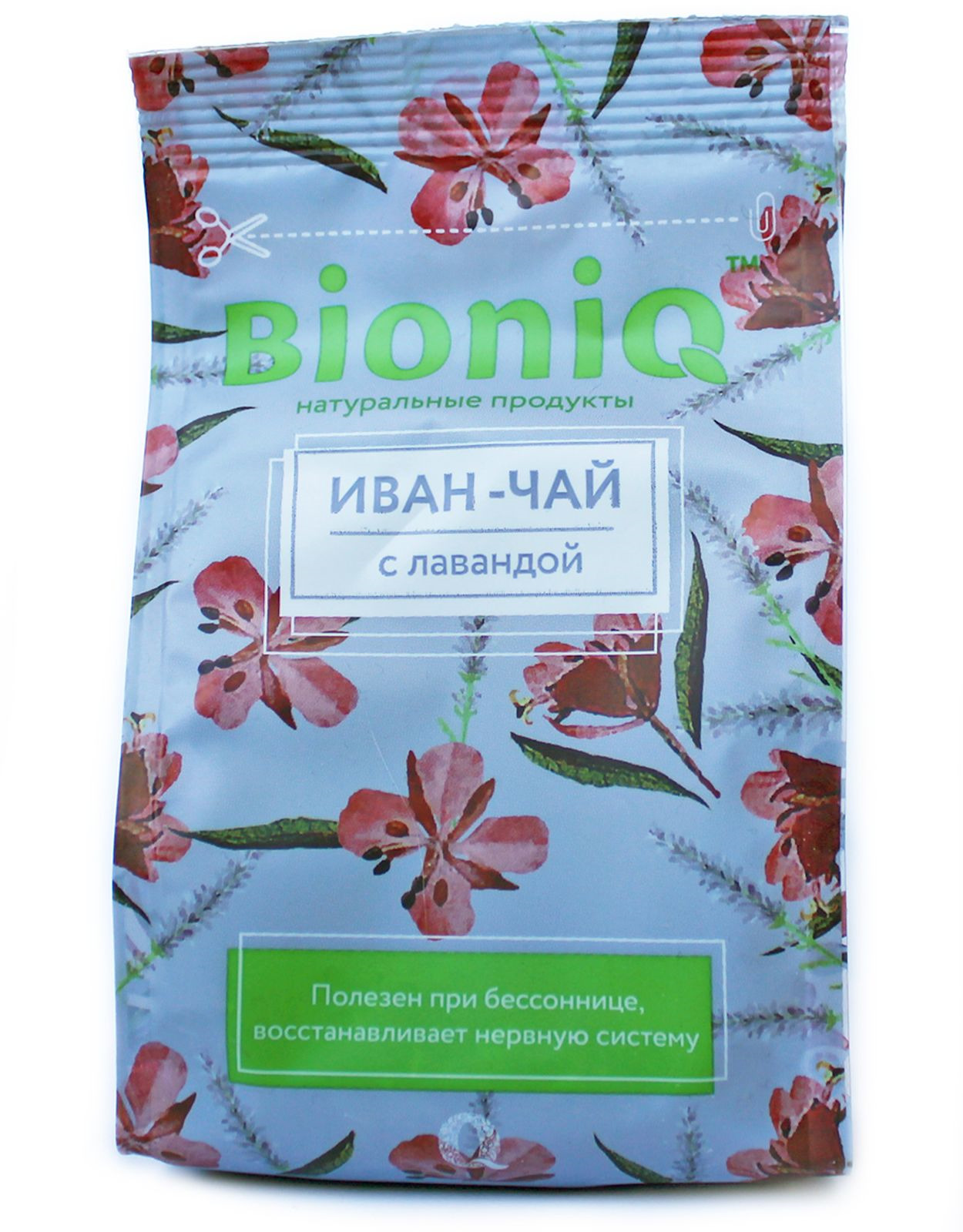 Иван-чай BioniQ, с лавандой, 35 г компот bioniq смородиновый 0 48 0 5 л