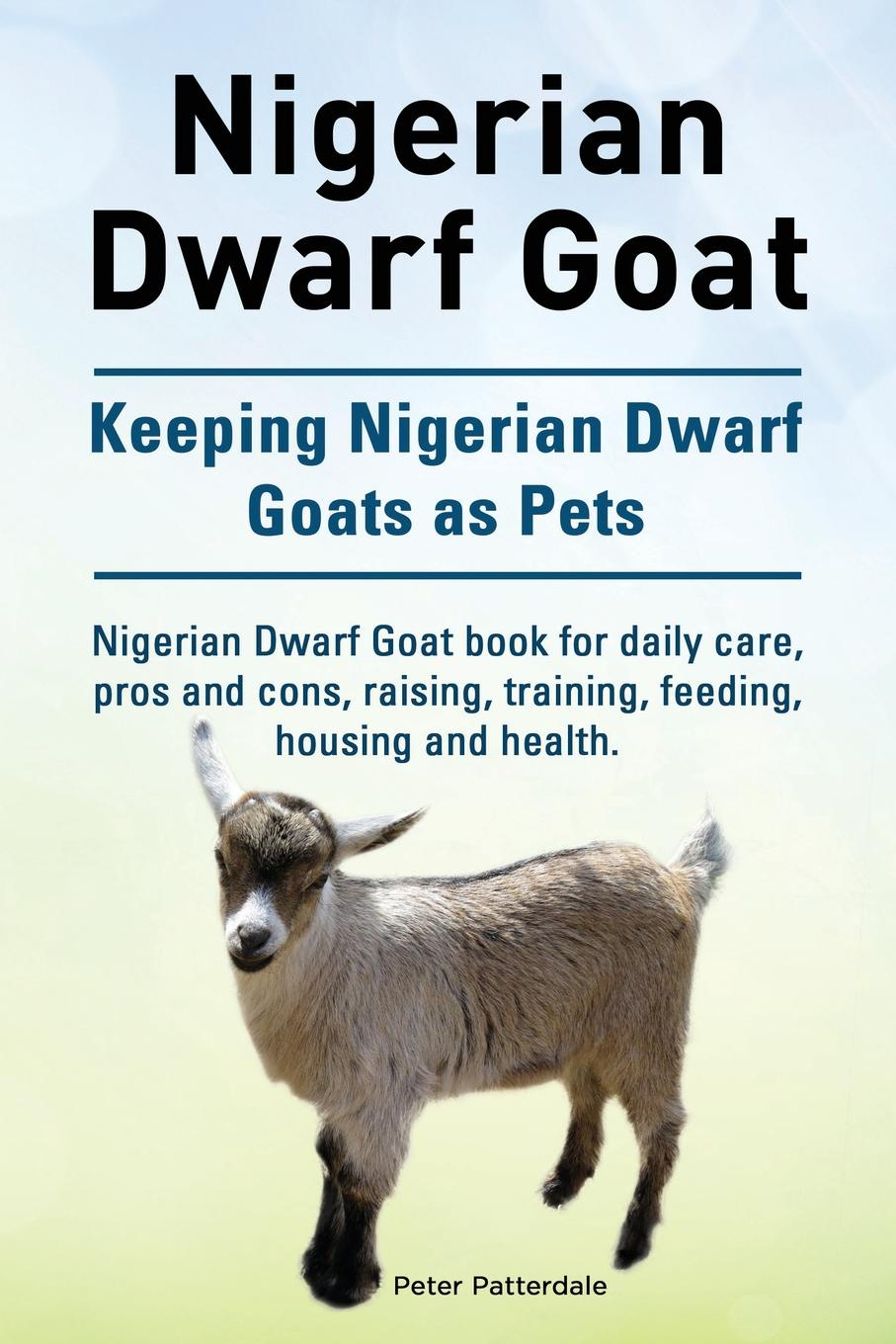 Peter Patterdale Nigerian Dwarf Goat. Keeping Nigerian Dwarf Goats as Pets. Nigerian Dwarf Goat book for daily care, pros and cons, raising, training, feeding, housing and health. the mountain goats tallahasse