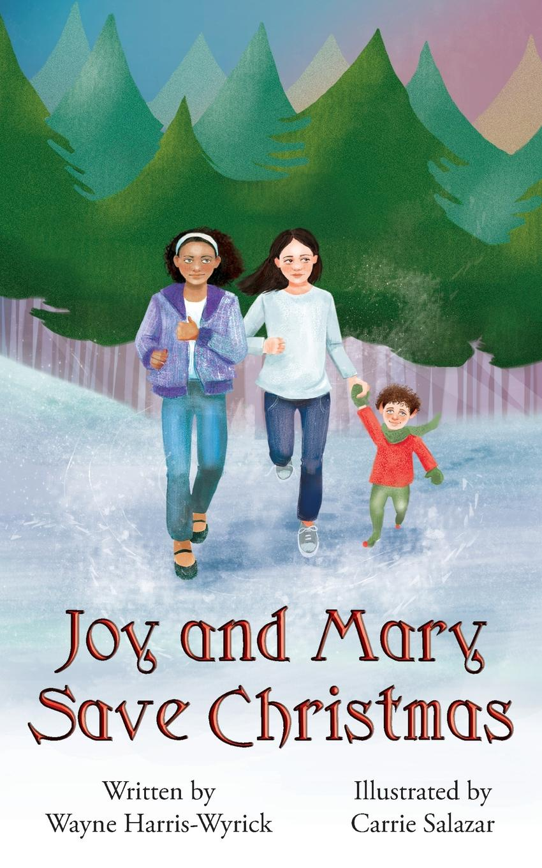 Wayne Harris-Wyrick Joy and Mary Save Christmas wall hanging art cartoon christmas gifts print tapestry