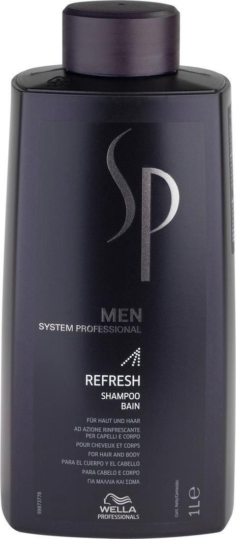 Wella SP Освежающий шампунь Men Refresh Shampoo, 1000 мл