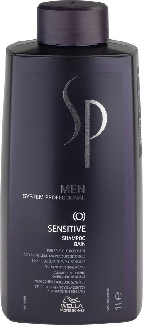 Wella SP Шампунь для чувствительной кожи головы Men Sensitive Shampoo, 1000 мл cutrin sensitive fragrance free foam shampoo шампунь пена для окрашенных волос и чувствительной кожи головы 150 мл