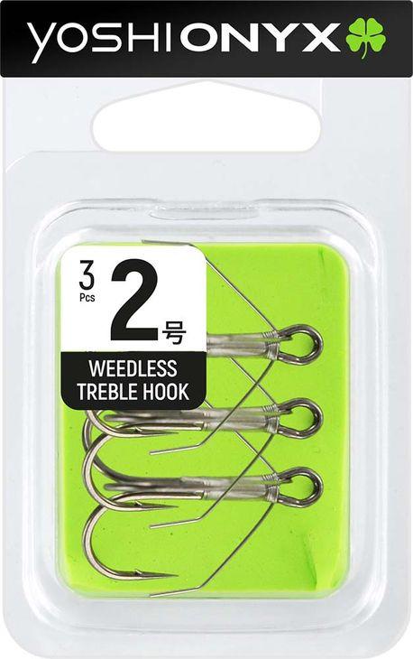 Крючок Yoshi Onyx Weedless Treble Hook №2, тройной, с незацепляйкой, 158342, 3 шт