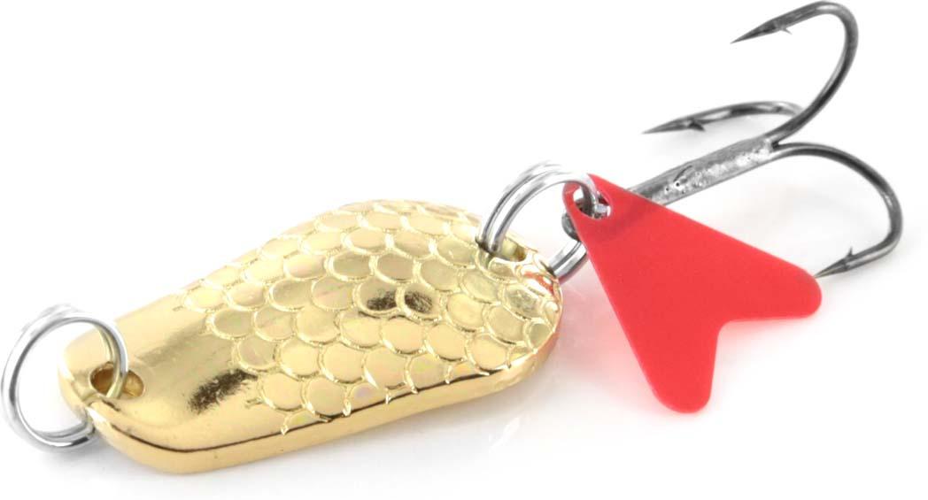Блесна Hacker Pike, колеблющаяся, 163251, золотистый