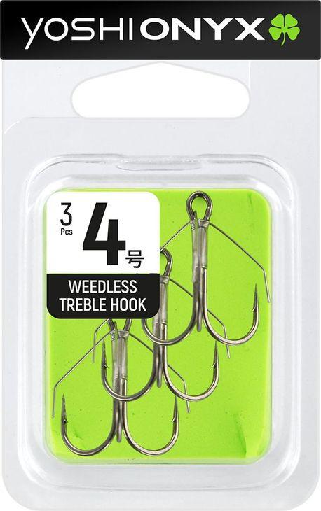 Крючок Yoshi Onyx Weedless Treble Hook №4, тройной, с незацепляйкой, 158343, 3 шт