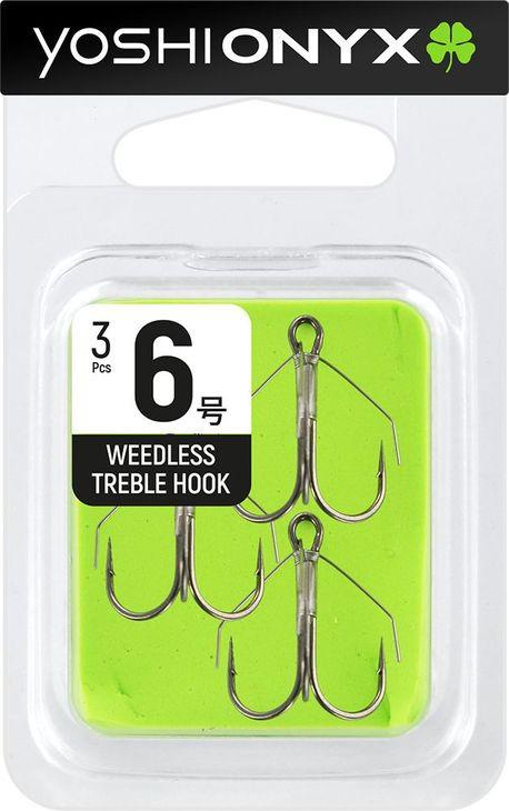 Крючок Yoshi Onyx Weedless Treble Hook №6, тройной, с незацепляйкой, 158344, 3 шт