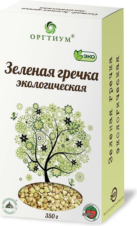 Гречка Оргтиум, зеленая, экологическая, 350 г