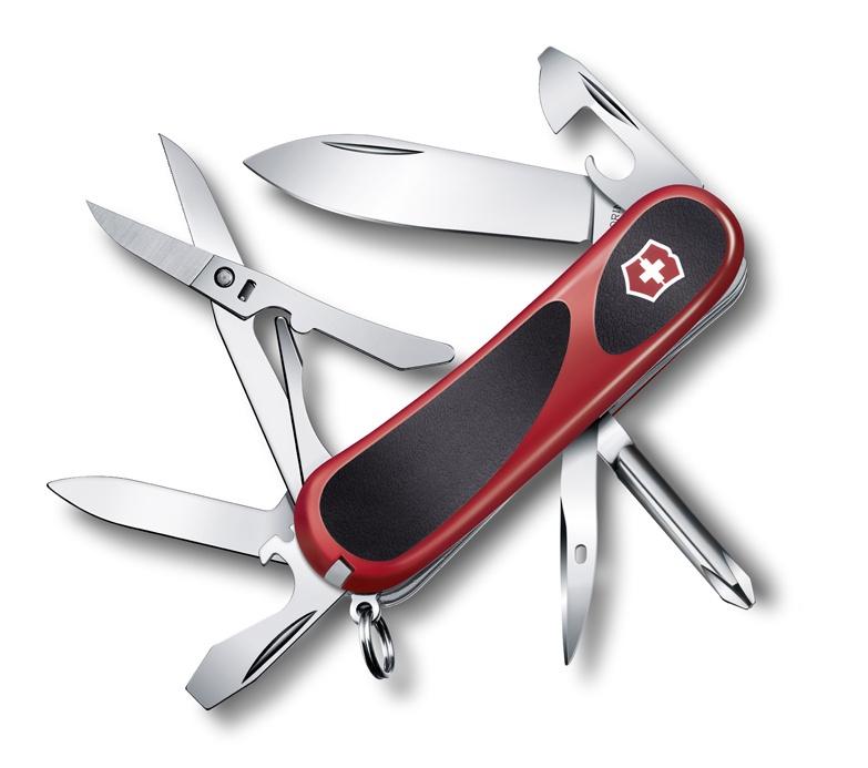 Нож Victorinox EvoGrip 16, 85 мм, 14 функций, красный с чёрным