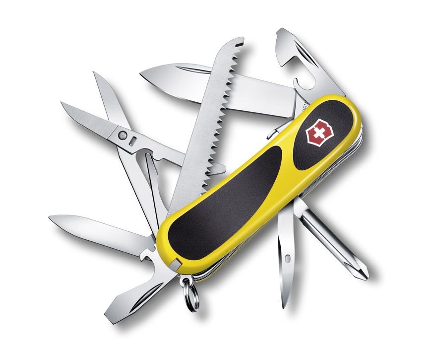 Нож Victorinox EvoGrip S18, 85 мм, 15 функций, желтый