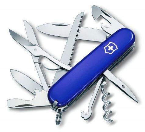 Нож Victorinox Huntsman, 91 мм, 14 функций, синий