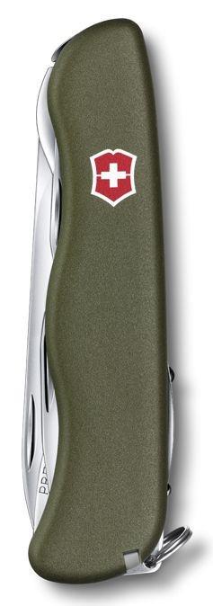 Нож Victorinox Picknicker, 111 мм, 11 функций, зеленый