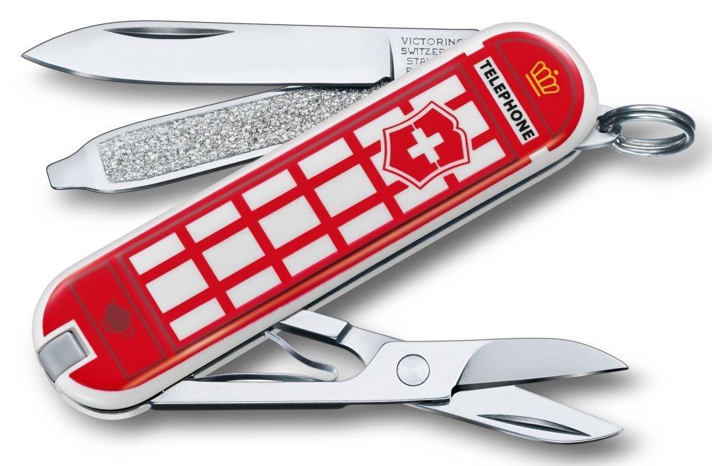 Нож-брелок Victorinox Classic LE 2018, 58 мм, 7 функций, A Trip to London цена
