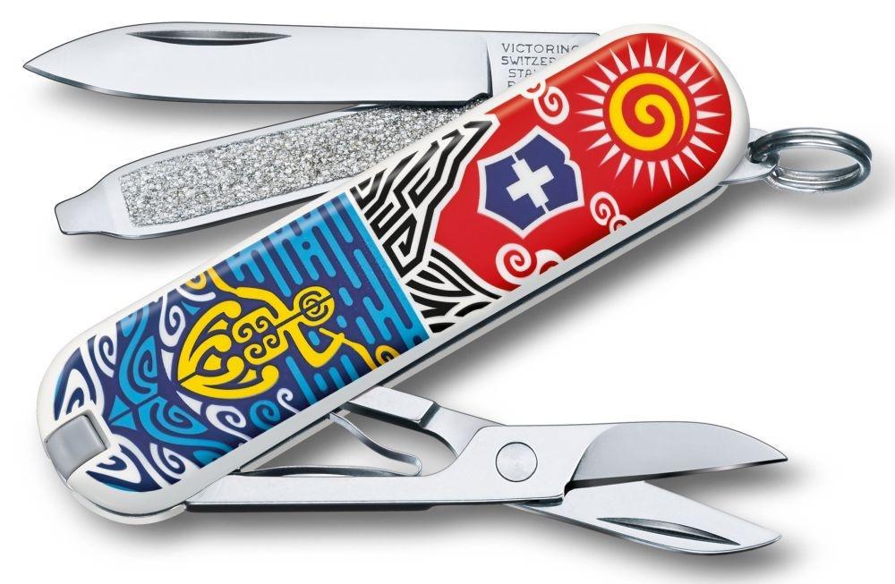 Нож-брелок Victorinox Classic LE 2018, 58 мм, 7 функций, New Zealand цена