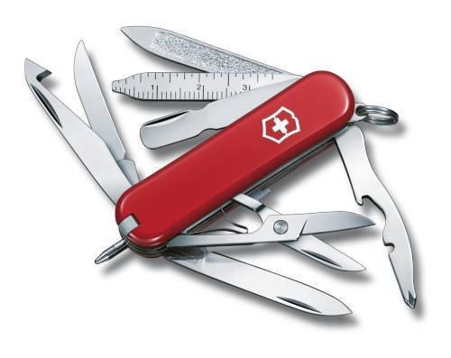 Нож-брелок Victorinox Classic MiniChamp, 58 мм, 16 функций, красный
