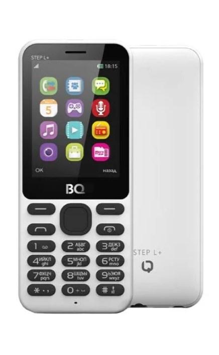 Мобильный телефон BQM-2431 Step L+ White мобильный телефон bq 2431 step l dark blue