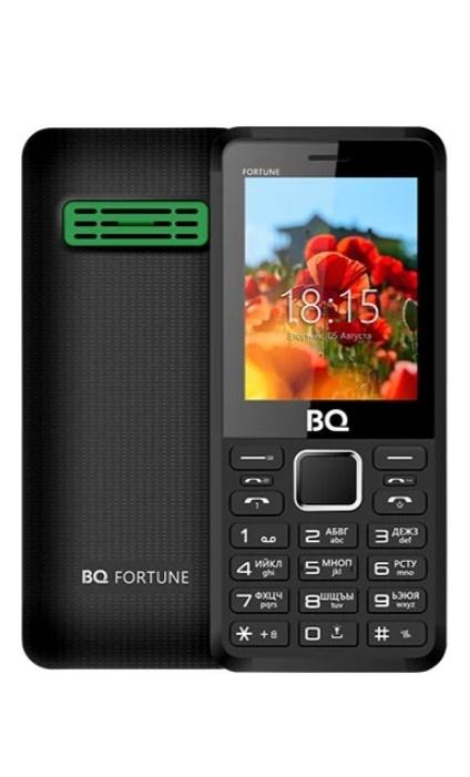 Мобильный телефон BQM-2436 Fortune P Black Green мобильный телефон bq bq 2436 fortune p black gray