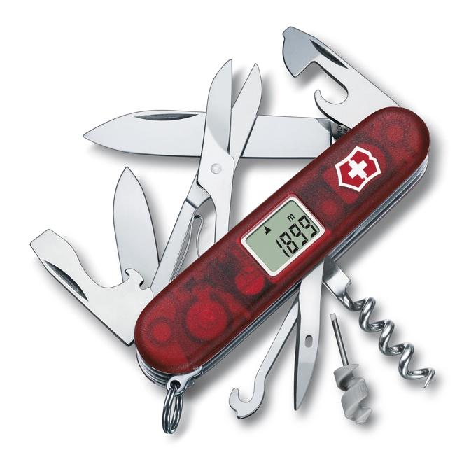 все цены на Нож Victorinox Traveller, 91 мм, 27 функций, полупрозрачный красный онлайн