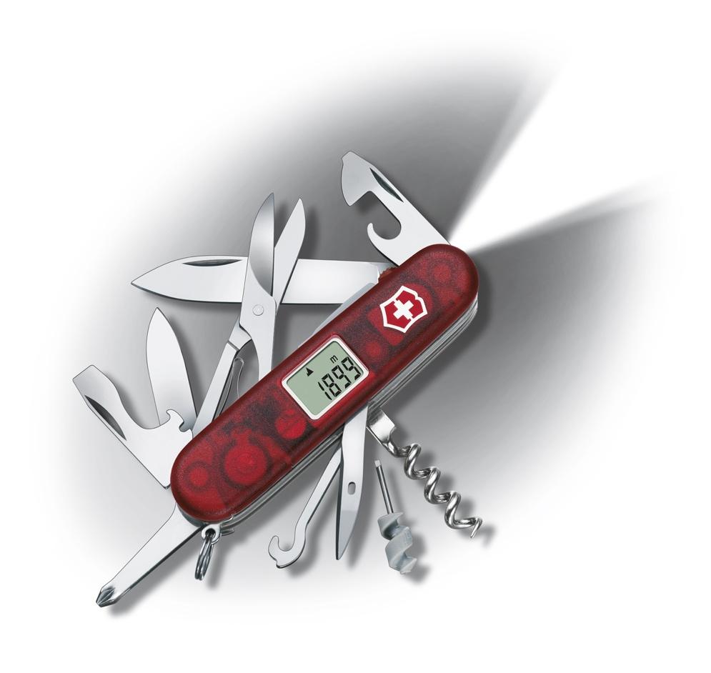 все цены на Нож Victorinox Traveller Lite, 91 мм, 27 функций, полупрозрачный красный онлайн