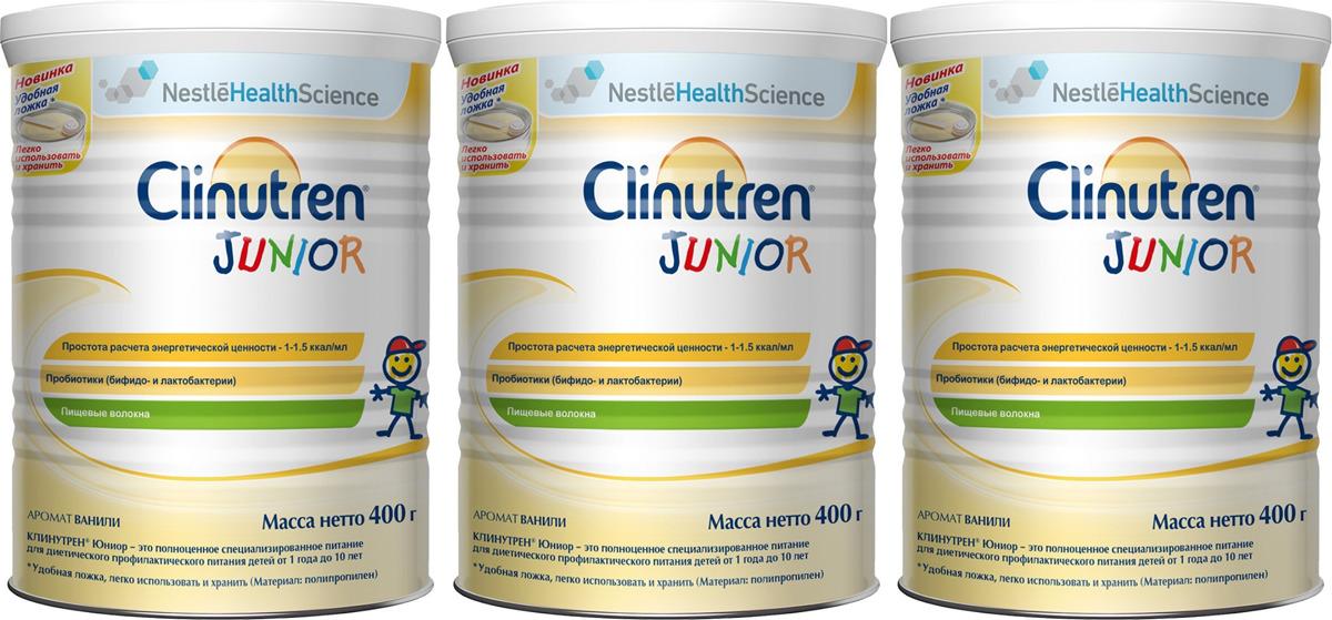 Молочная смесь Clinutren Junior, для детей от 1 года до 10 лет, 400 г х 3 шт