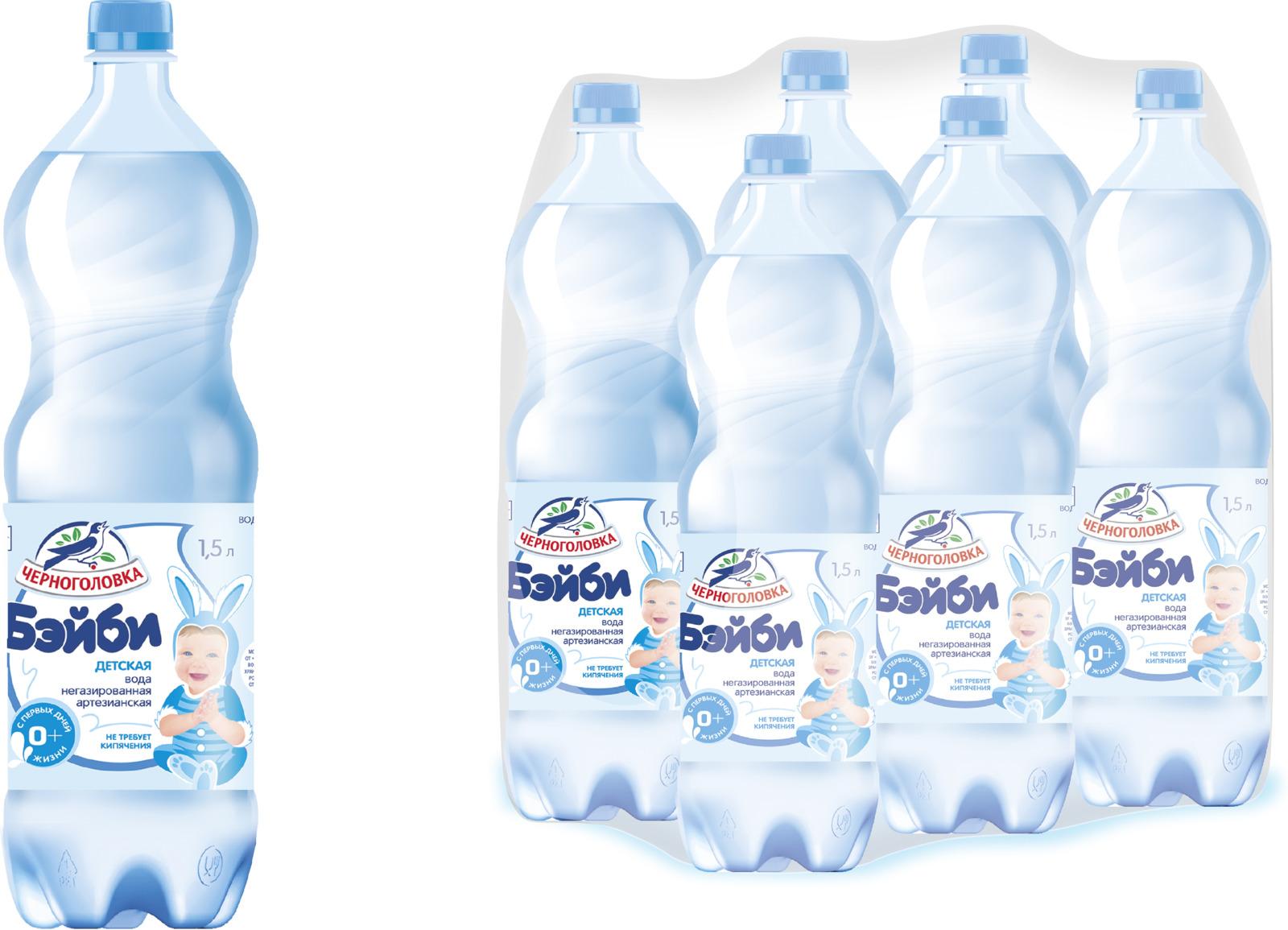"""Вода """"Черноголовская"""", 010500-0051203, питьевая, негазированная, для детей, 6 шт, 1,5 л"""
