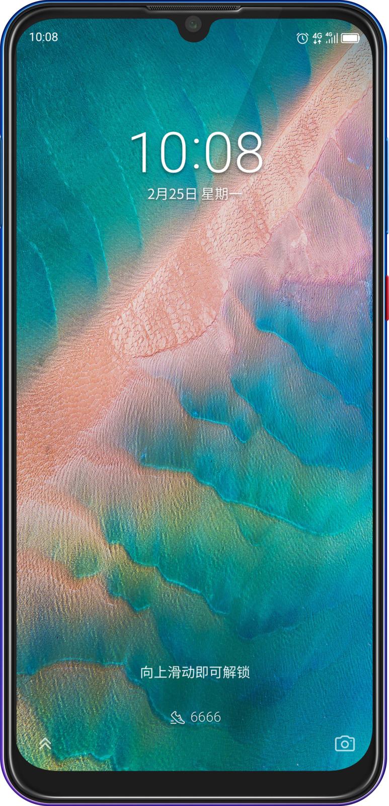 Смартфон ZTE Blade V10 4/64GB, синий