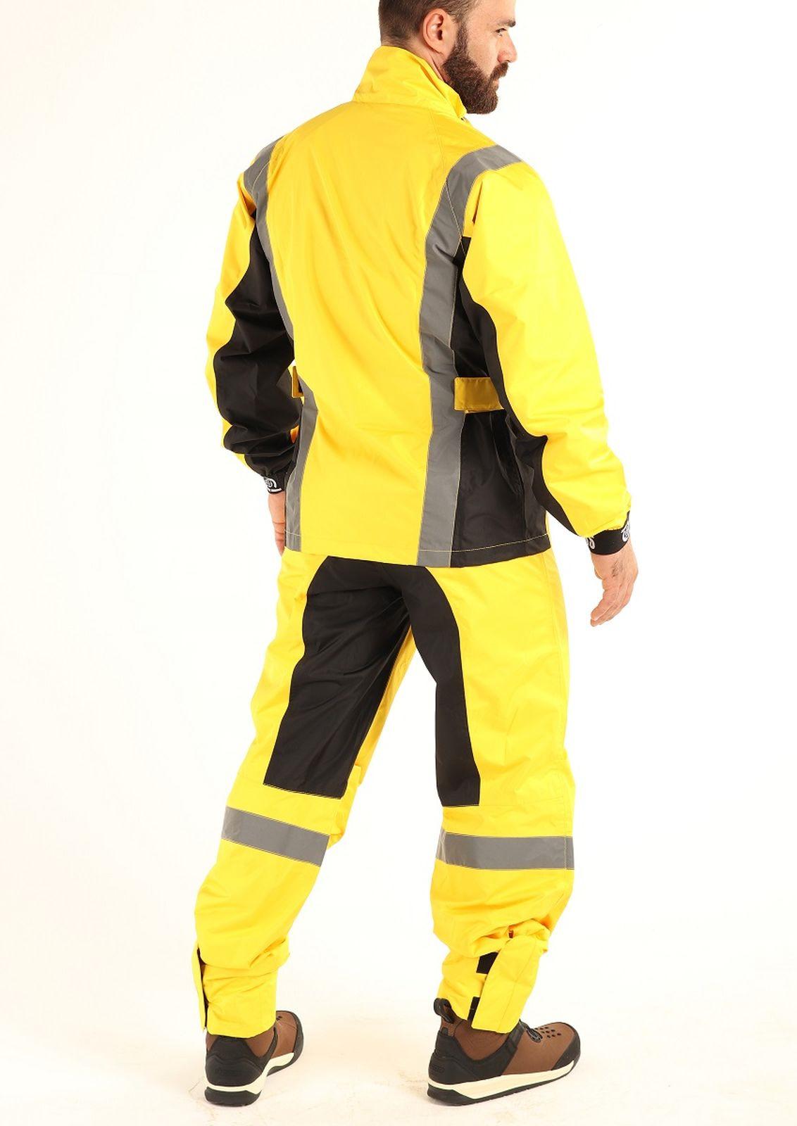 Мотодождевик мужской Starks Light Rain Membran, LC0085, желтый, размер XS Starks