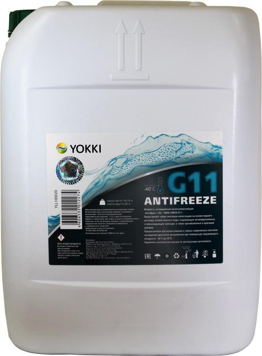 Антифриз -40 YOKKI GREEN G11, 20кг