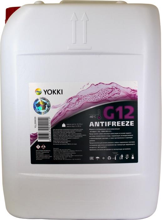 Антифриз -40 YOKKI RED G12, 20кг