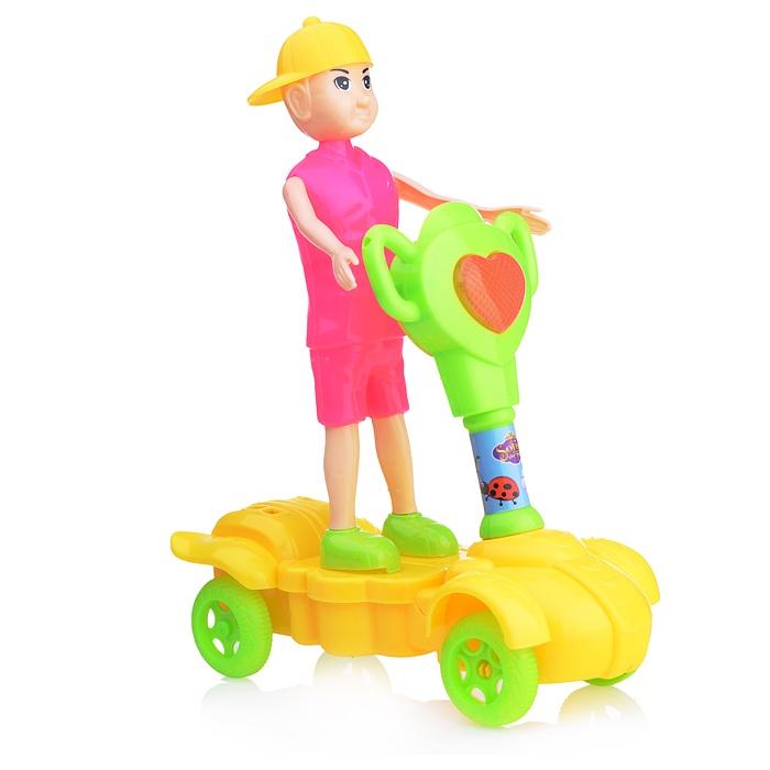 Заводная игрушка 1688-26A Самокат с человечком самокат для 3 лет