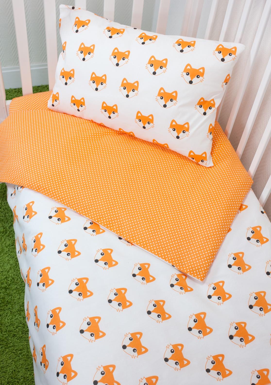 Комплект постельного белья для малышей MagicCity Апельсиновый Лис комплект постельного белья облачко дельфин в детскую кроватку с простынью на резинке 186903