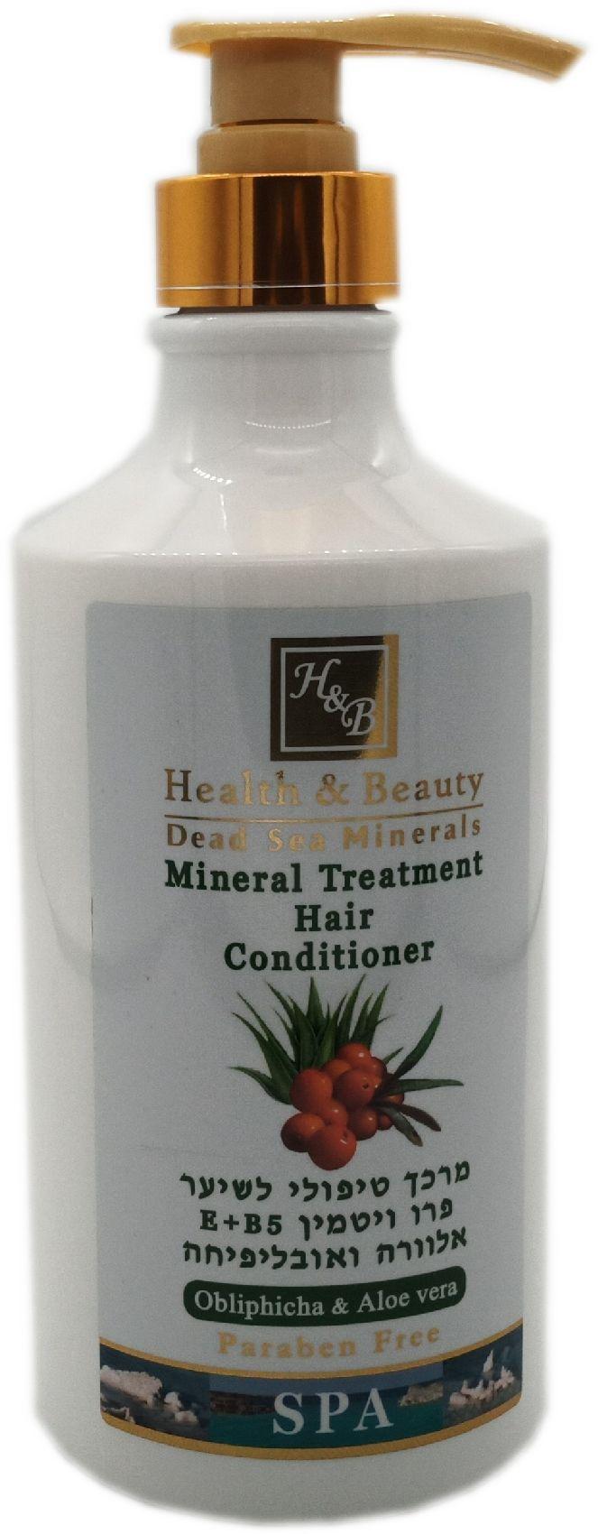 Кондиционер для волос Health & Beauty на основе минералов Мертвого моря с облепихой