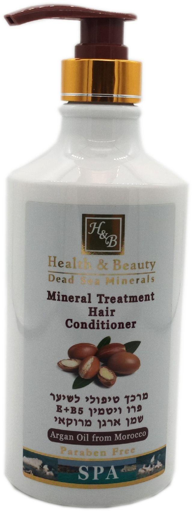 Кондиционер для волос Health & Beauty на основе минералов Мертвого моря c маслом Аргана кондиционер для волос dr sea с кератином витамином е и минералами мертвого моря для всех типов волос 400 мл