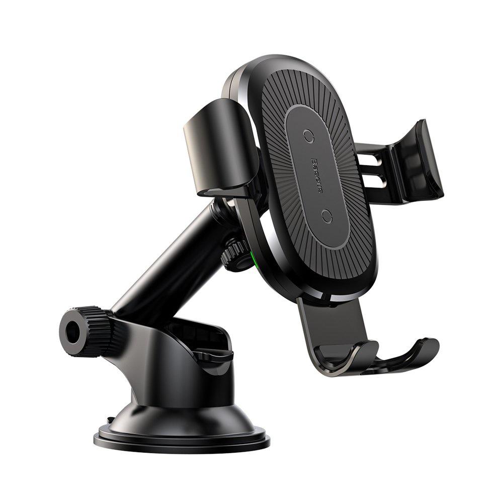 Фото - Автомобильный держатель с беспроводной зарядкой Wireless Charger Gravity Car Mount - WXYL-A01 (Черный) автомобильная беспроводная зарядка держатель с сенсорным датчиком smart sensor car wireless charger r1