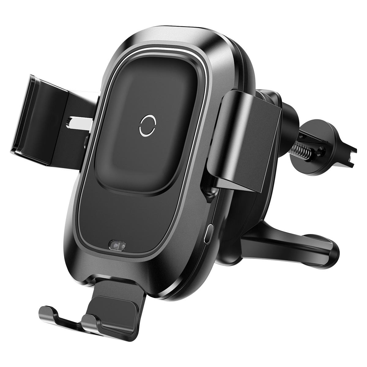 Фото - Автомобильный держатель с беспроводной зарядкой Smart Vehicle Bracket Wireless Charger - WXZN-01 автомобильная беспроводная зарядка держатель с сенсорным датчиком smart sensor car wireless charger r1