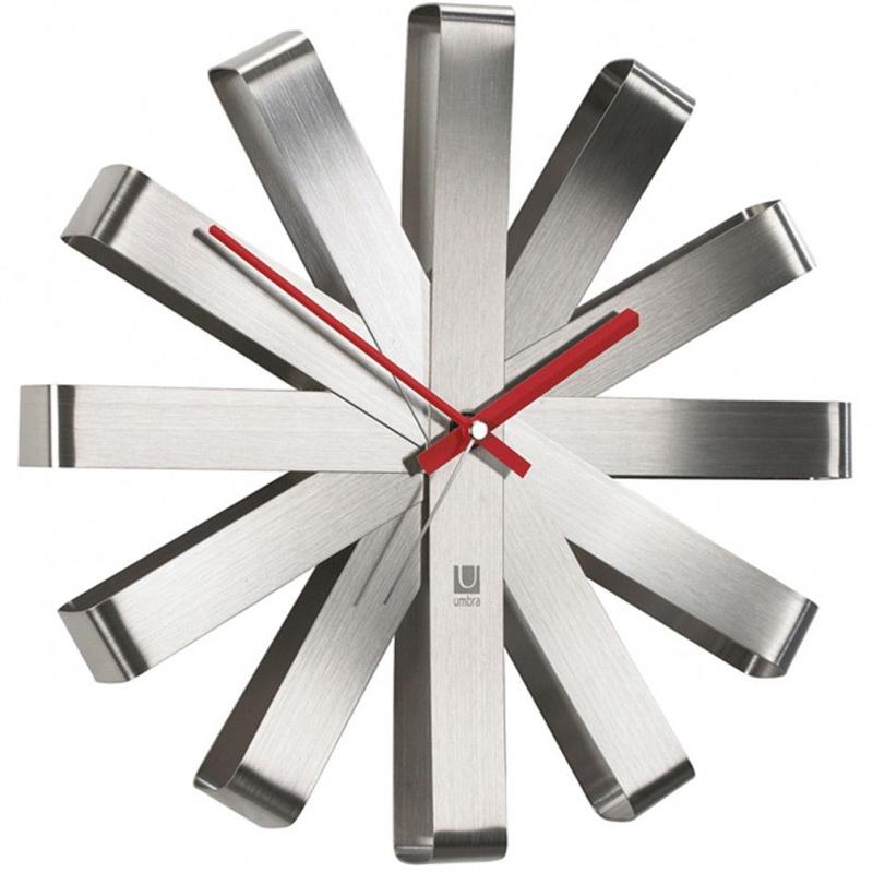 Настенные часы Umbra Часы настенные Ribbon сталь
