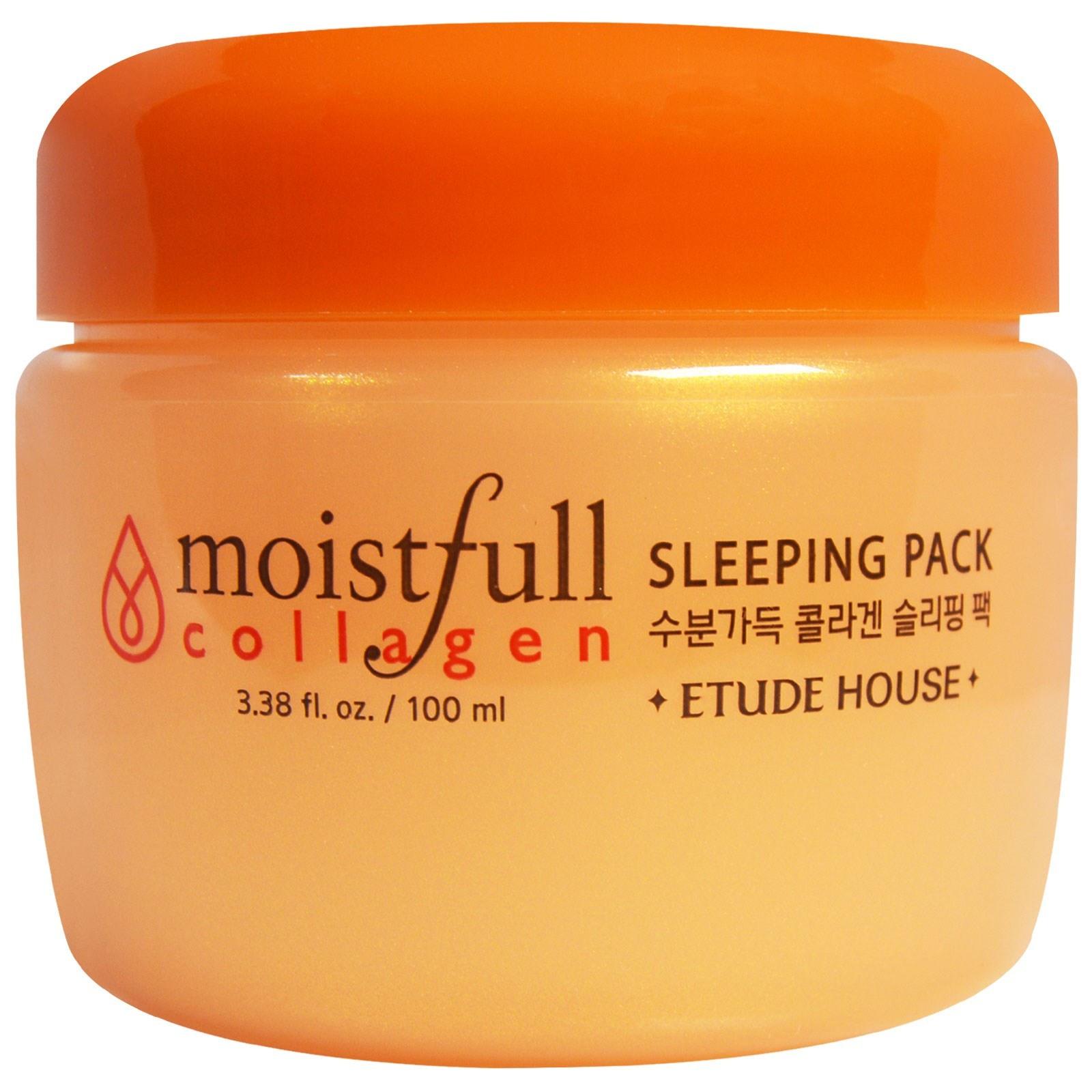 ETUDE HOUSE Увлажняющая ночная маска Moistfull Collagen Sleeping Pack маска для лица ночная с коллагеном moistfull collagen sleeping pack 100 мл etude house collagen